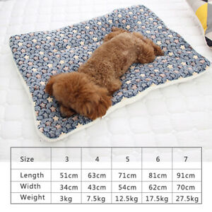 Pet-Soft-Warm-Fleece-Blanket-Bed-Mat-For-Puppy-Cat-Sofa-Flannel-Cushion-GIFT