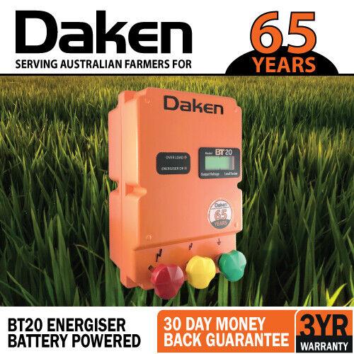 20km 12V VOLT BATTERY POWERED Electric Fence Energiser Energizer BT20 Farm Pet