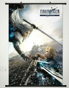 Final-Fantasy-VII-Cloud-Strife-Sephiroth-Home-Decor-Poster-Wall-Scroll-60-90