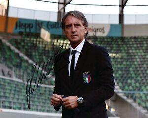 Foto-Autografo-Calcio-Roberto-Mancini-Asta-di-Beneficenza-Soccer-Signed-Sport