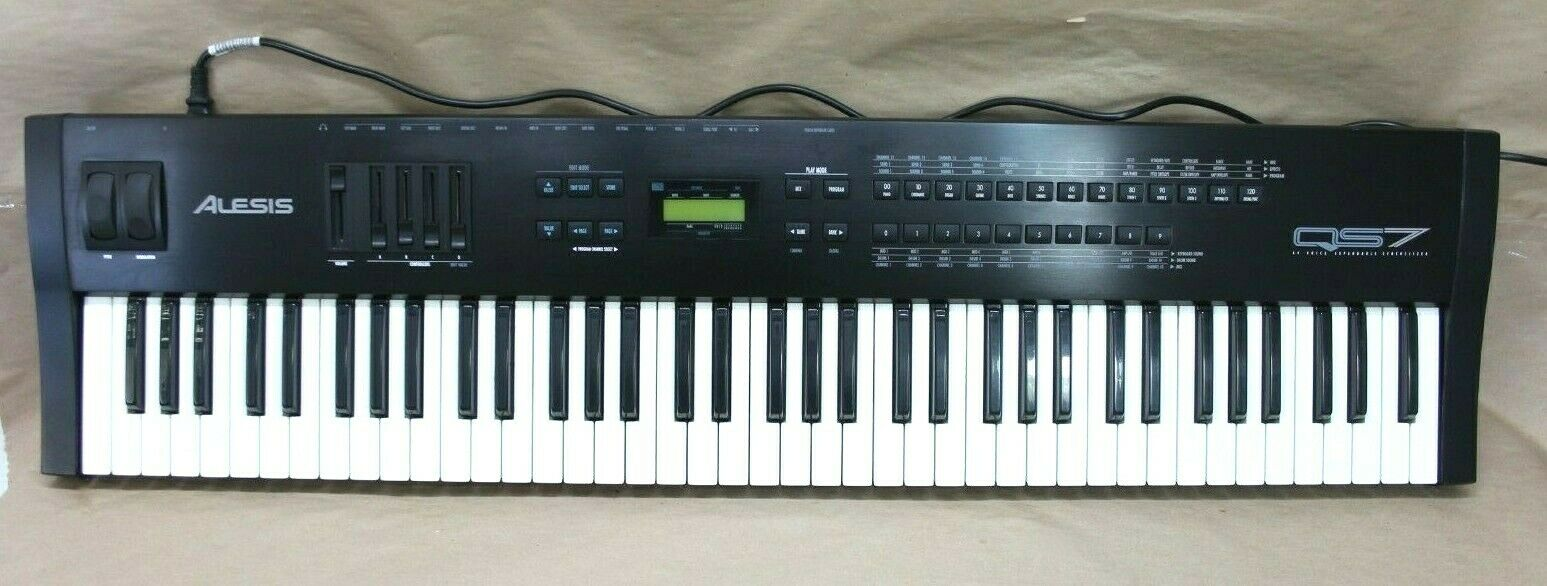 ALESIS QS7 SyntheGrößer 76-Key Keyboard MIDI Workstation - Tested Free Shipping