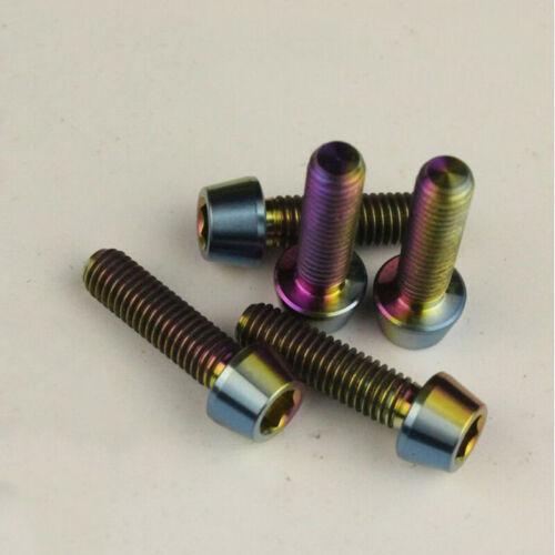 Bolts M5x18 MTB Titanium Alloy Handlebar Stem Shifter Screws Seat pipe clamp