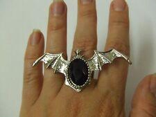 Pipistrello Anello Regolabile ~ ~ ~ Vampiro Strega Gotico Halloween ~ ~