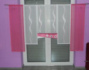 Details Zu Madchen Kinderzimmer 5 Tlg Pink Weiss Gardinen Set Nr 111