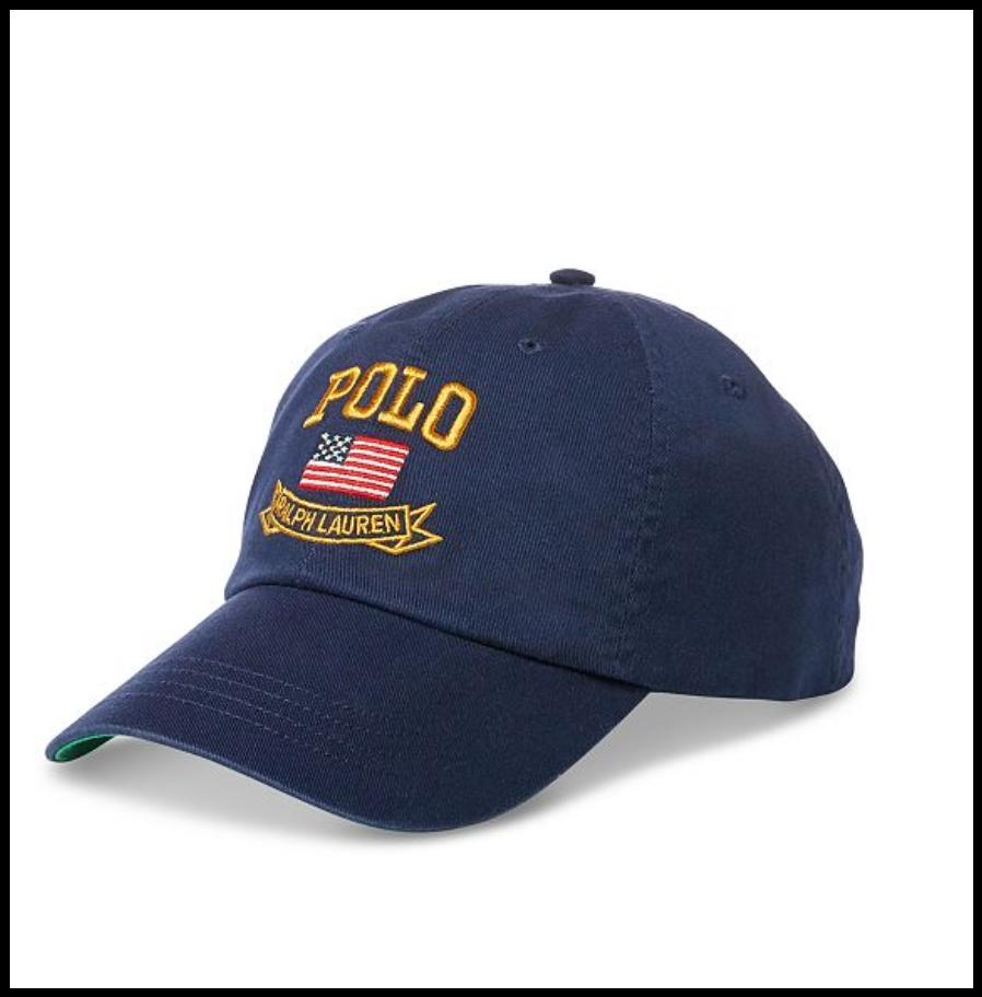 NWT Polo Ralph Lauren Navy American Flag Baseball Cap Newport Navy Lauren Blue 91d8b9