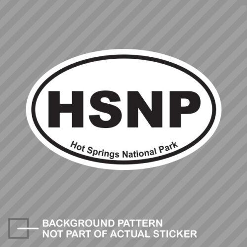 Hot Springs National Park Oval Sticker Decal Vinyl Euro HSNP