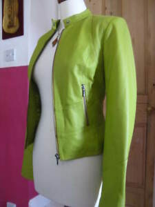 Ladies Green Short Bomber 10 8 Jacket Coat Uk Next Leather Biker Racer Size Cafe 6Srx64