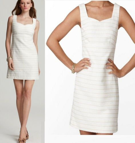 $278 Lilly Pulitzer Adriana Resort White Spring In Your Step Boucle Shift Dress