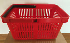 25 Top Quality Plastic Shopping Basket, Large 26L Capacity. Red, Green, Blue.