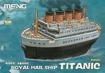 CARTOON MODEL Royal Mail Ship Titanic - Neu Meng-Model MOE-001