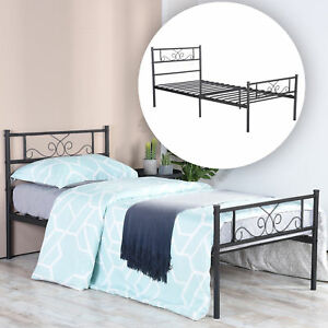 Metal Twin Full Size Bed Frame Platform Bed Storage W Headboard