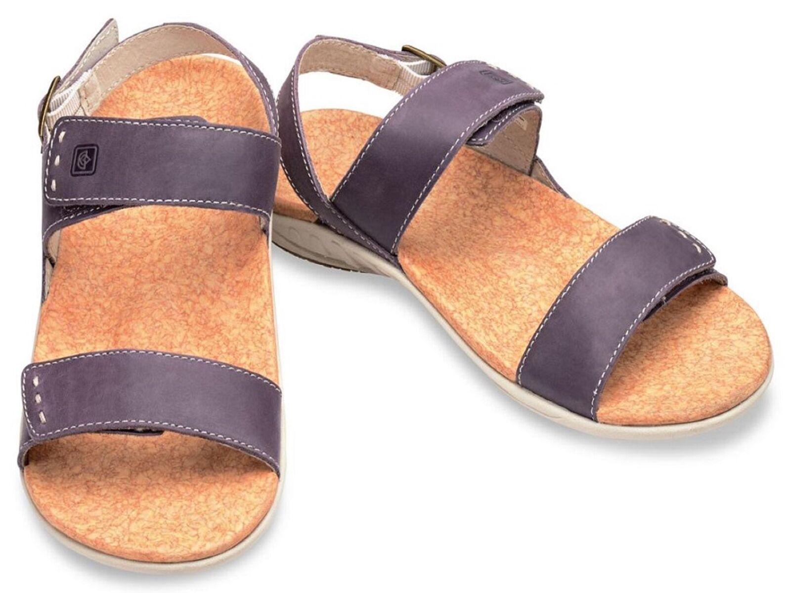 Spenco Alex Women's Strap Orthotic Sandals Purple, Size 11