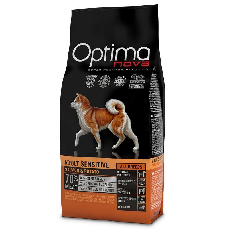 Optimanova Adult Sensitive Salmone & Patate 12 kg