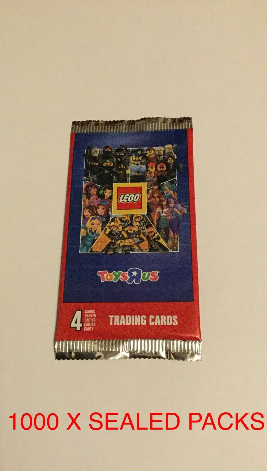 1000 X PACKS OF LEGO TOYS R US TRADING CARDS, SEALED. BE QUICK