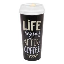 Travel Mug Gift - Life Begins After Coffee New X59305