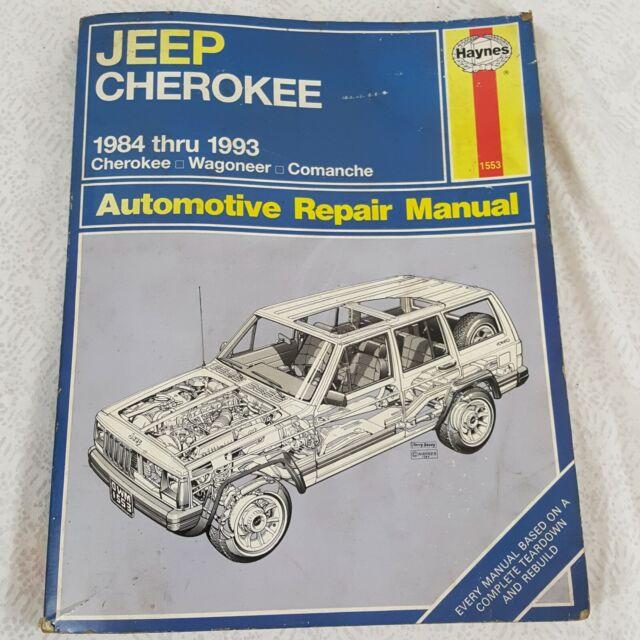 Haynes 1553 Jeep Cherokee Wagoneer Comanche 1984