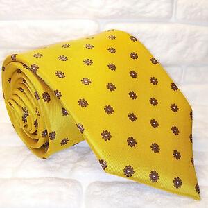 Cravatta-uomo-TOP-Nuova-100-seta-business-tie-yellow