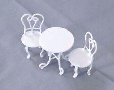 Half Scale 1/24 G - Ice Cream Parlor Table & Chairs dollhouse miniature EIWF444