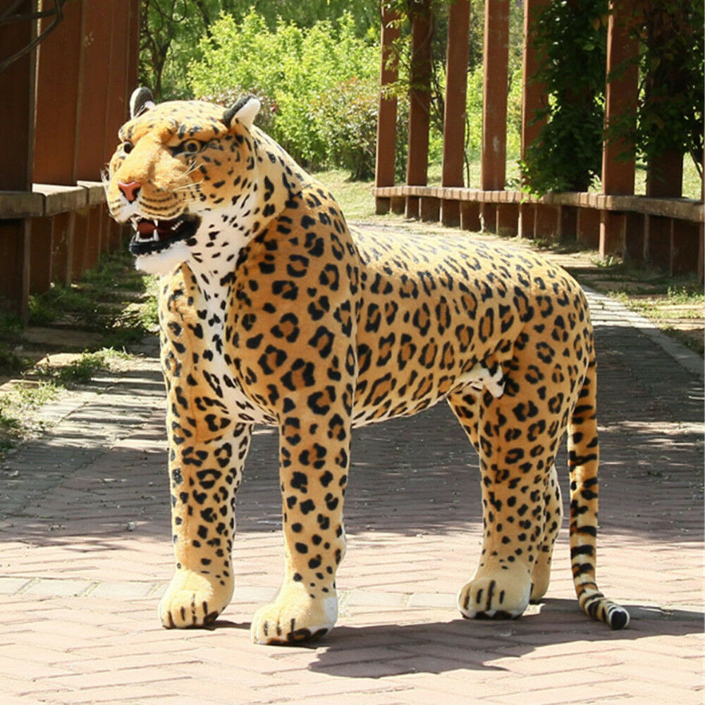2018 Huge Prestige Simulated Animal Leopard Plush Toy Giant  Panther Doll 110cm