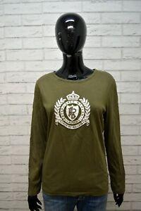 Maglia-Donna-RALPH-LAUREN-ACTIVE-Taglia-L-Polo-Manica-Lunga-Shirt-Women-039-s-Cotone