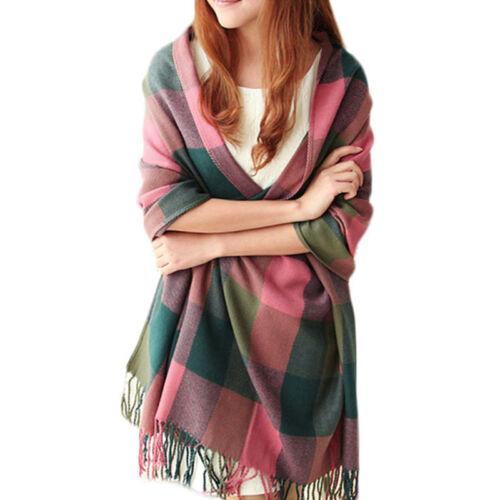 Womens Ladies Soft Pashmina Scarf Winter Cashmere Wool Shawl Wraps Stole Sarong