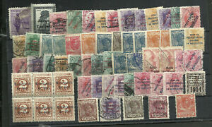 SPAIN-COLONIES-61-OLD-STAMPS-LOT-USED-MINT-FOR-STUDY-VF