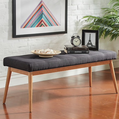 Upholstered Dining Table Bench Mid Century Modern Furniture Dining Room  Bench 795545551185 | EBay