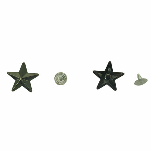 Star Spike Studs Rivets Spots for Bracelet Shoes Clothes Leather Craft 11mm//19mm