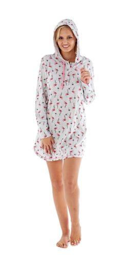 Damen Flamazing Flamingo Sommer Nachtwäsche ~ Shorts Pyjama Ausschnitt mit
