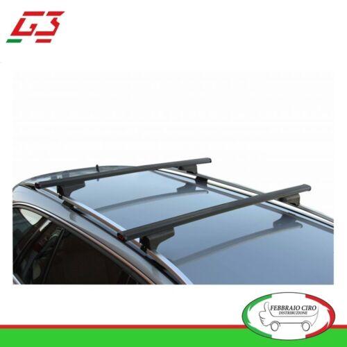 Barre Tetto Portatutto G3 CLOP 110 cm in acciaio per Fiat Tipo SW con rails 2016