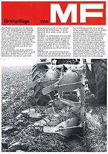Massey- Ferguson Drehpflüge, orig. Prospekt 1972