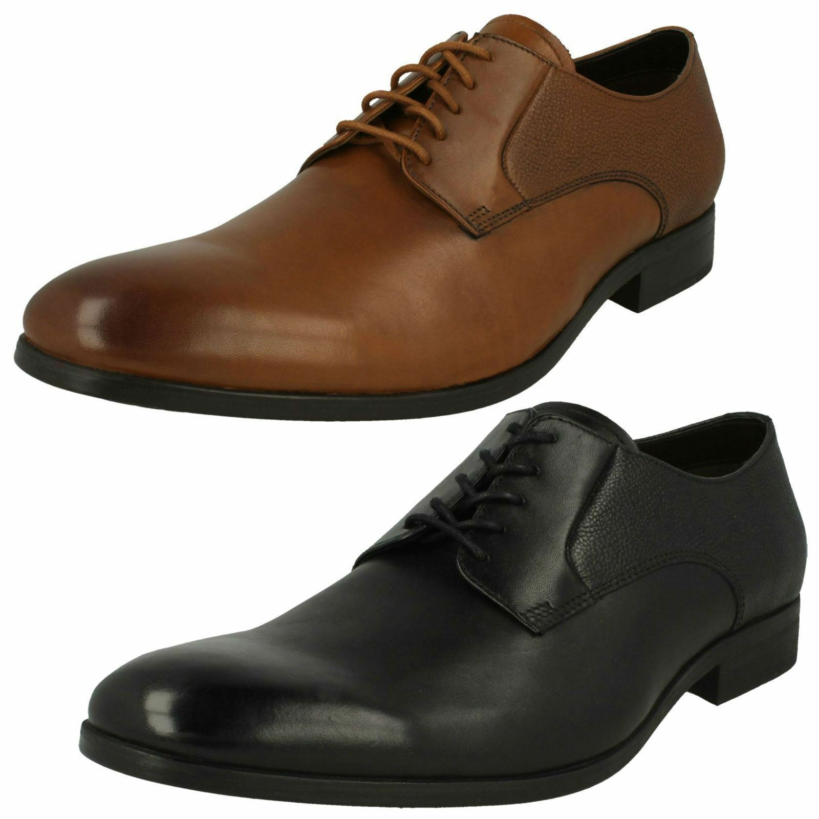 Mens Clarks Gilmore Lace Smart Black Or Tan Leather Lace Up Shoes G Fitting