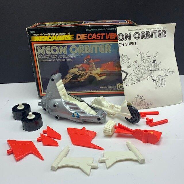 Micronauts Mego 1976 robot action figure vehicle complete Neon Orbiter diecast