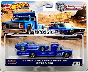 HOT-WHEELS-2020-CAR-CULTURE-TEAM-TRANSPORT-039-69-FORD-MUSTANG-BOSS-302-RETRO-RIG