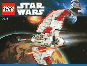 Nouvelle Mode Lego Notice Originale Vaisseau Spatial Star Wars - T - 6 Jedi Shuttle Ref 7931 Une Grande VariéTé De Marchandises