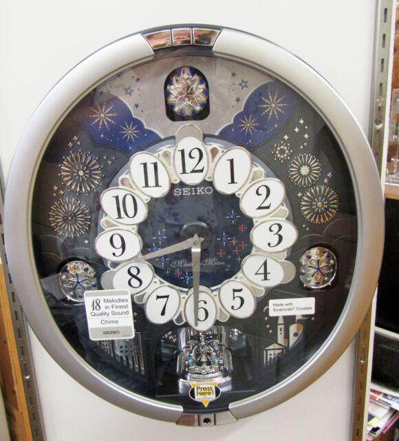 Seiko Melody In Motion Clock Qxm379srh W 18 Hi Fi Melodies