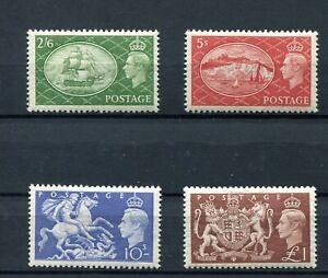 1951-GRAN-Bretana-britain-yvert-256-59-Mild-Charniere-Mlh-Catalogue