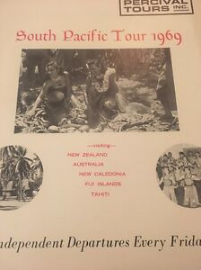 vintage travel brochure south pacific tour 1969 uta french airlines