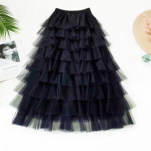 Fashion-Women-039-s-Skirts-Elegant-tiered-layered-skirt-Girls-sweet-bubble-skirt