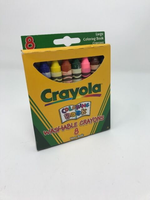 Crayola Washable Crayons Coloring Book Large 8 Count C258 | eBay