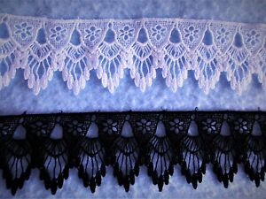 price for 1 yard 2 Colors Beautiful Venise LaceTrim select color//