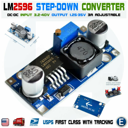 LM2596 DC-DC Buck Adjustable Step-Down Power Supply Converter Module 3A LM2596S