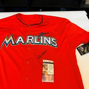 best website f0749 a86ad Details about Giancarlo Stanton Signed Authentic Majestic Miami Marlins  Jersey With JSA COA