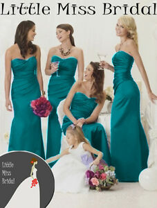 Image Is Loading Teal Turquoise Bridesmaid Dress Dresses Evening Ball Party