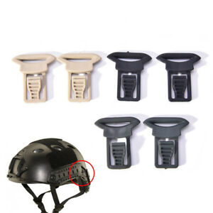 2x-Fast-casque-vision-lunettes-boucles-clips-airsoft-casque-tactique-accessoires