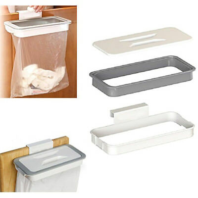 Kitchen Cabinet Door Basket Hanging Trash Can Waste Bin Garbage Rack Tool De HK