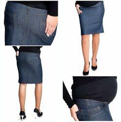 Umstandsrock mit Bauchband Elegant Umstandsmode Jeansrock Rock Jeans