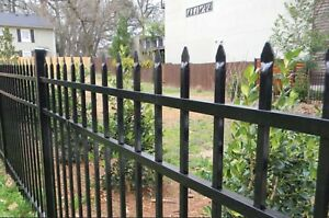Aluminum Fence Commercial Spear Top 72 In T X 8ft W