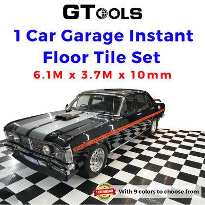 Interlocking Garage Floor Tile Mat DIY Set Workshop Patio ...