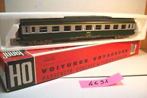 WAGONS-TRAIN-HO-VOYAGEURS-UIC-A9-1ere-CLASSE-de-JOUEF-OCCASION-boite-4691